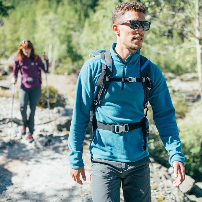 Fleecepullover Bergwandern MH100 Herren schwarz