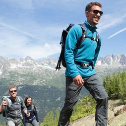 Fleecepullover Bergwandern MH100 Herren grau meliert
