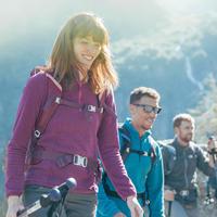 MH100 Women's Mountain Hiking Fleece Sweater - Navy