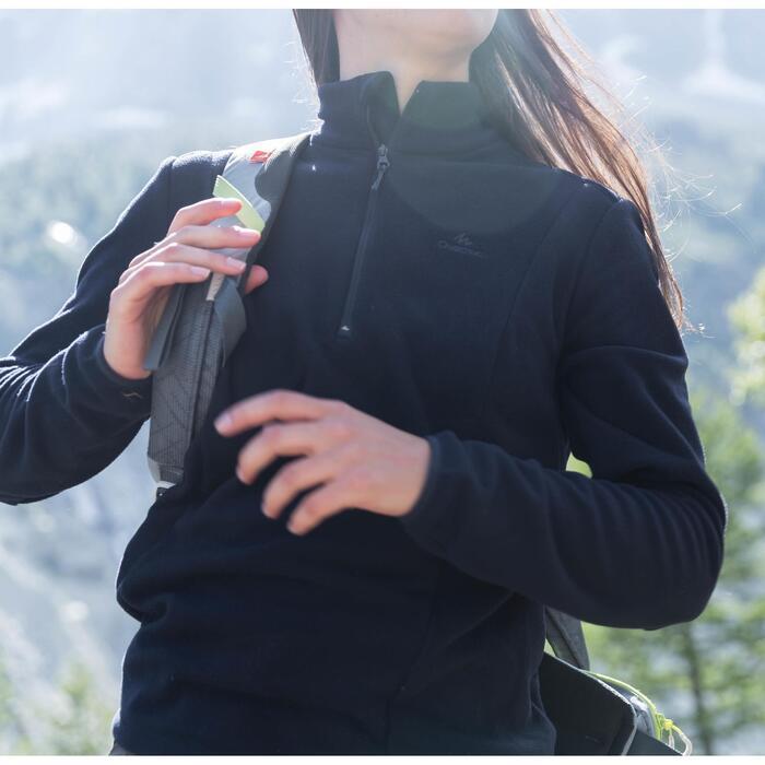 Damesfleece voor bergwandelen MH100 grijs gestreept