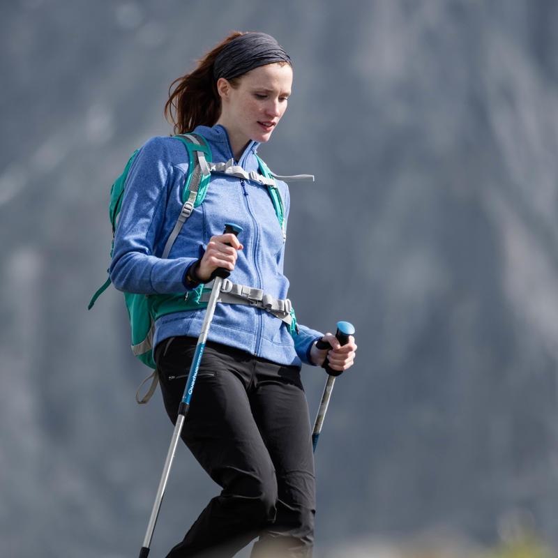 Chaqueta polar de hiking montaña mujer MH120 Gris jaspeado