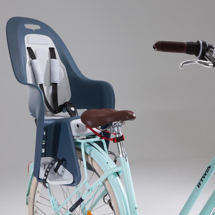 Fahrrad-Kindersitz 100 Gepäckträger grau