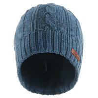 Adult Ski Cable Knit Wool Hat - Navy
