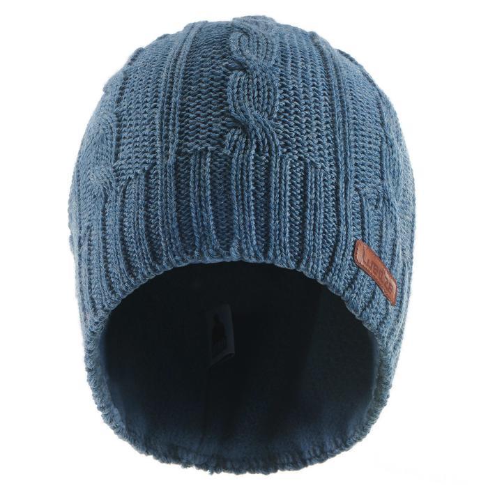 Skimuts voor volwassenen Wool kabelbrei marineblauw
