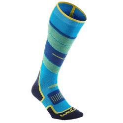 成人滑雪襪300 - 藍色