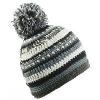 MIXYARN SKIING HAT BLACK GREY WHITE-ADULT
