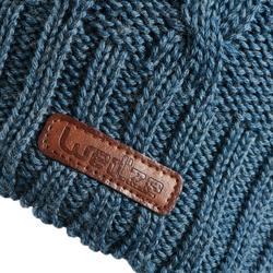 Skimütze Flechtmuster Wolle Erwachsene marineblau