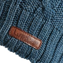 Skimütze Zopfmuster Wolle Torsades Erwachsene marineblau