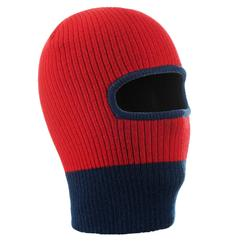 兒童針織保暖頭套紅藍色