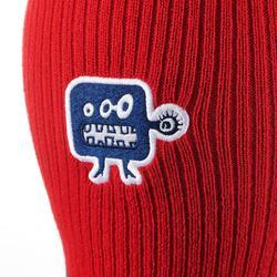 Tricot skibivakmuts kid rood/blauw