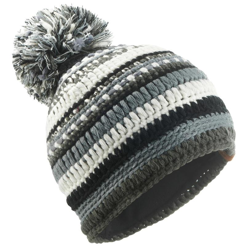 dc6cf0c1721cc MIXYARN ADULT SKIING HAT BLACK GREY WHITE