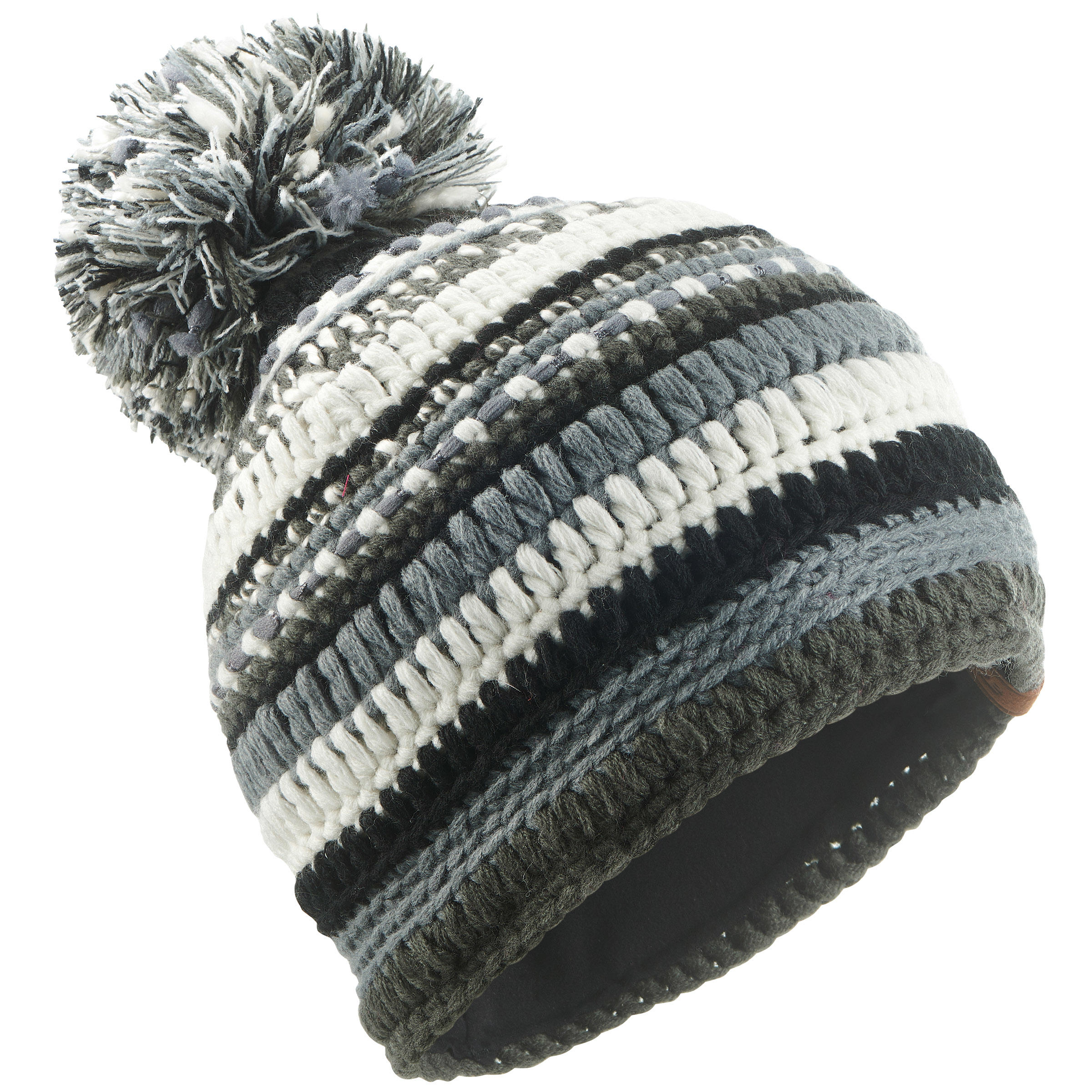 MIXYARN ADULT SKIING HAT BLACK GREY WHITE