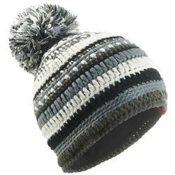 Skimütze Mixyarn Erwachsene schwarz/grau/weiß