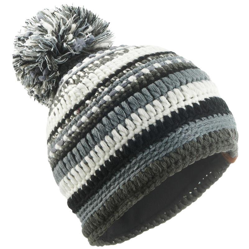 Skimuts volwassenen Mixyarn zwart/grijs/wit