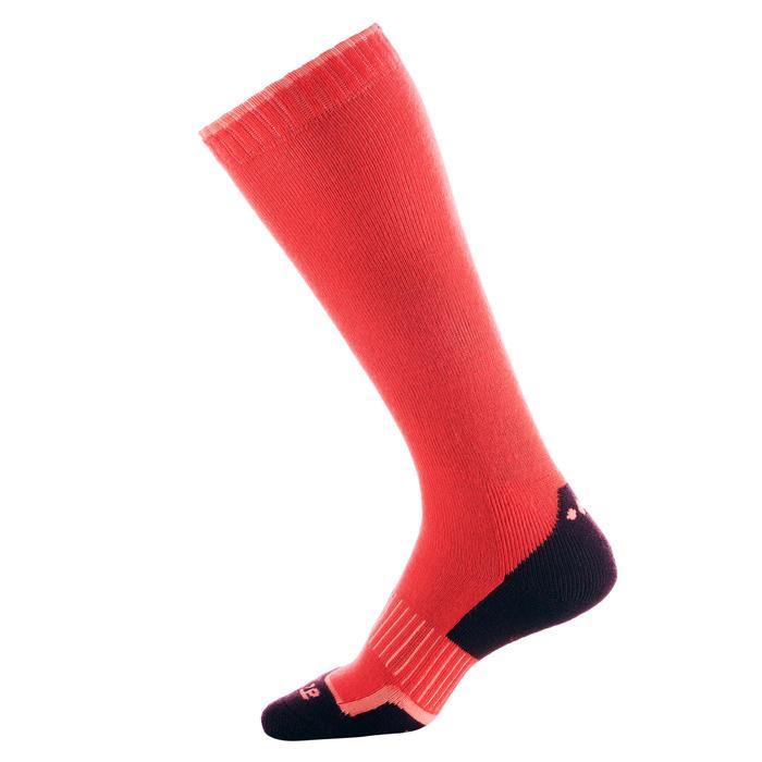 成人滑雪襪100粉紅色