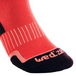 ADULT SKIING SOCKS 100 PINK