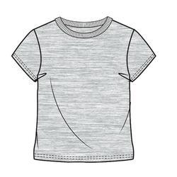 Camiseta de manga corta gimnasia infantil 100 gris