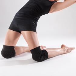 Kniebeschermers voor dans, voor dames, zwart