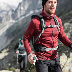 Chaqueta polar de senderismo montaña hombre MH900 Burdeos jaspeado