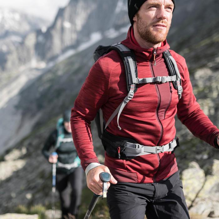 Fleecejacke Bergwandern MH900 Herren rot meliert