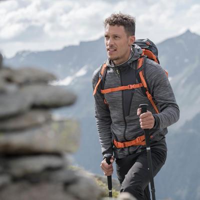 Чоловіча флісова кофта MH900 для гірського туризму - Мармурово-сіра