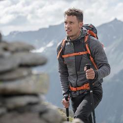 Fleece vest voor bergwandelen heren MH900 gemêleerd grijs