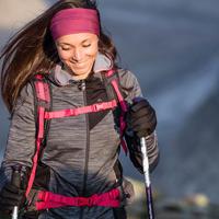 MH920 Women's Mountain Hiking Fleece - Green/Pink