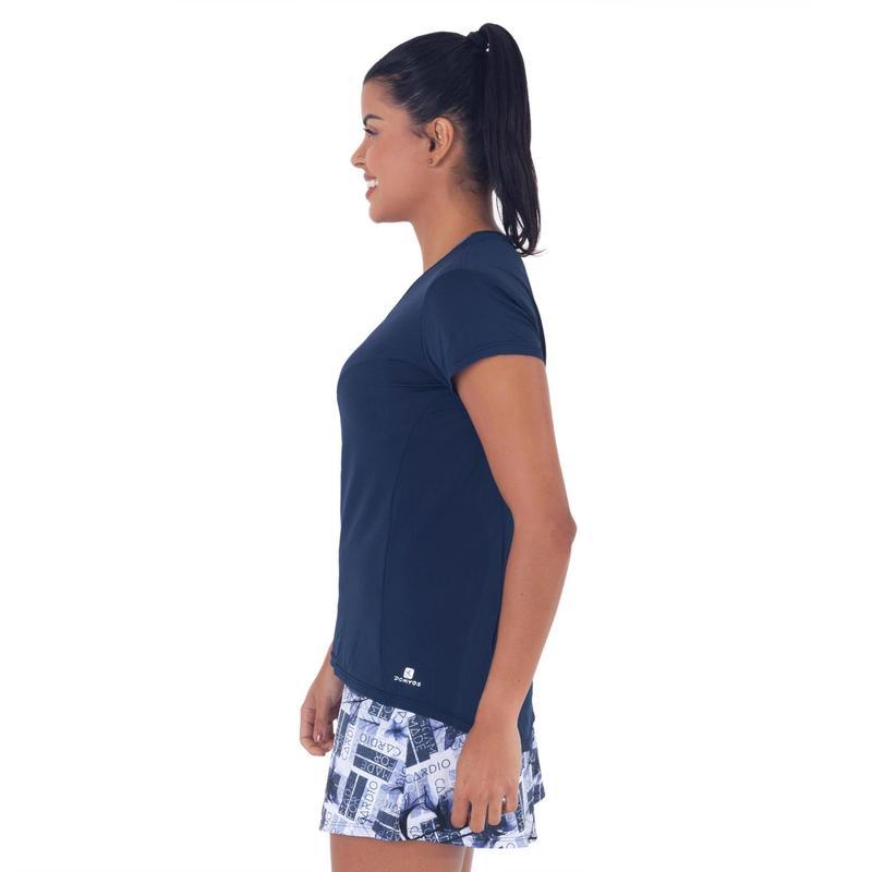 Camiseta Creponada Feminina para Academia Domyos  e1f4972d7df