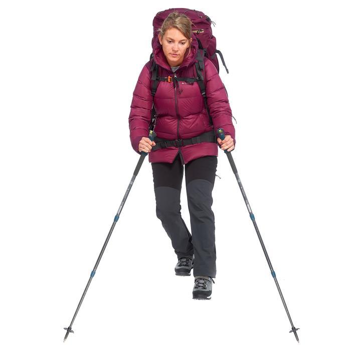 Abrigo Chaqueta Plumón Montaña Trekking Forclaz TREK900 Acolchada Mujer Violeta
