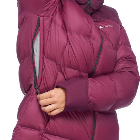 Women's Mountain Trekking Down Jacket - TREK 900 - Purple