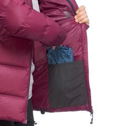 Doudoune trekking montagne TREK 900 Duvet femme violette