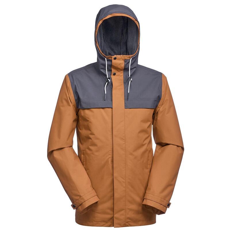 3-in-1 jas voor backpacken heren Travel 100 oker