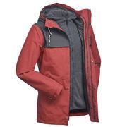 Men's 3in1 Waterproof Travel Jacket Travel 100 - Red
