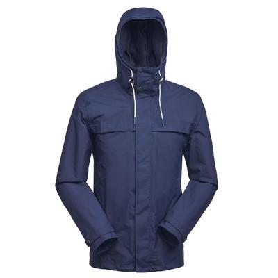 Men's Travel Trekking 3in1 Jacket TRAVEL 100 - Blue