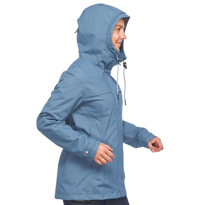 Jacke 3-in-1 Travel 100 Damen blau