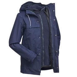 Men's 3in1 Waterproof Travel Jacket Travel 100 - Blue