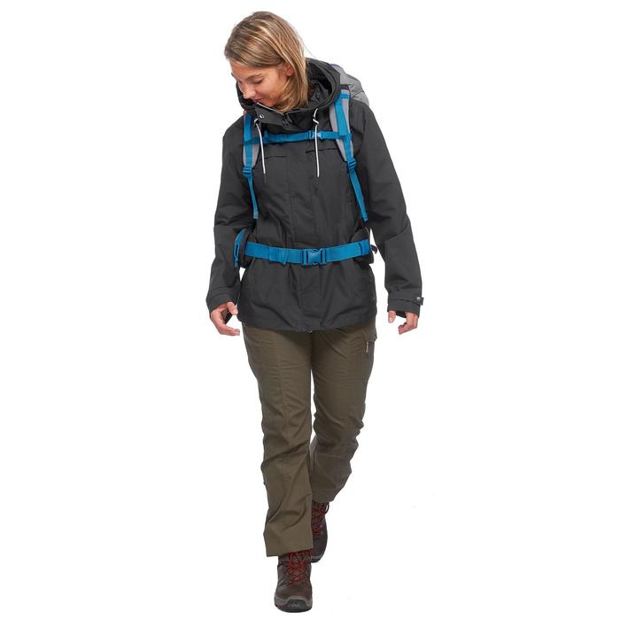 Veste 3en1 trekking voyage TRAVEL 100 femme gris