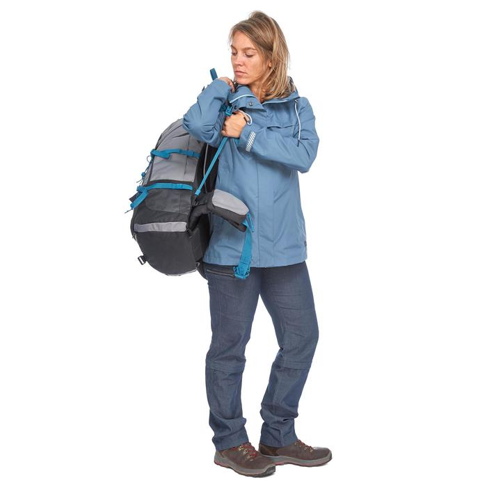 Trekkingjas 3-in-1 TRAVEL 100 dames blauw