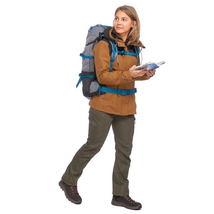 Veste 3en1 trekking voyage TRAVEL 100 femme camel