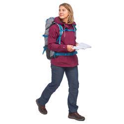 Veste 3en1 trekking voyage TRAVEL 100 femme rose