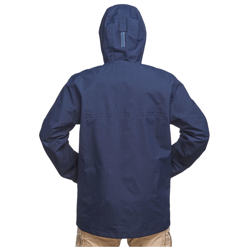 Men's Travel Trekking 3in1 Jacket TRAVEL 100 - Blue