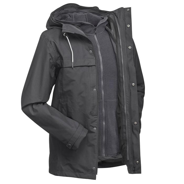 3-in-1-Jacke Travel 100 Herren grau