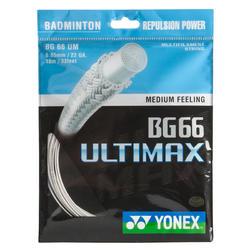 CORDAJE DE BÁDMINTON YONEX BG 66 ULTIMAX BLANCO