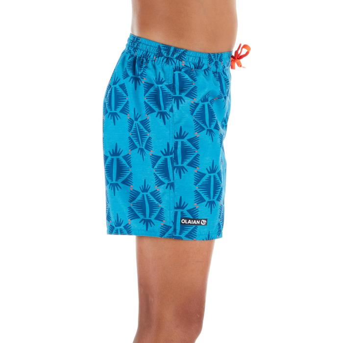 Surf Boardshort corto 100 Ethnic Azul turquesa