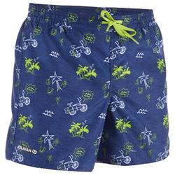 Surf Boardshort corto 100 Kid Palmitos Blue