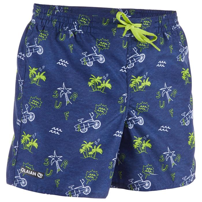 Surf Boardshort court 100 Kid Palmitos Blue