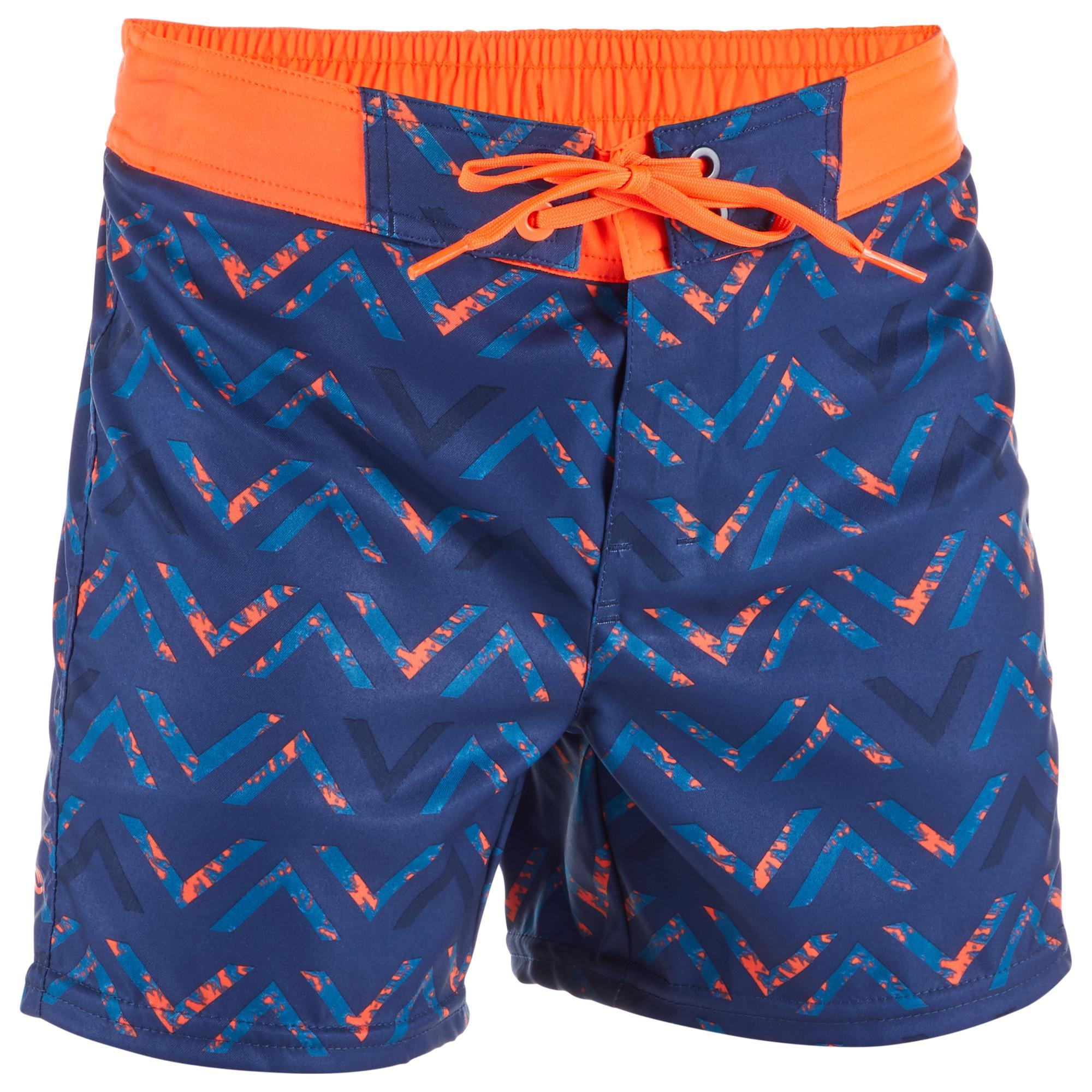 Surf boardshort court 500 kid chibou red olaian