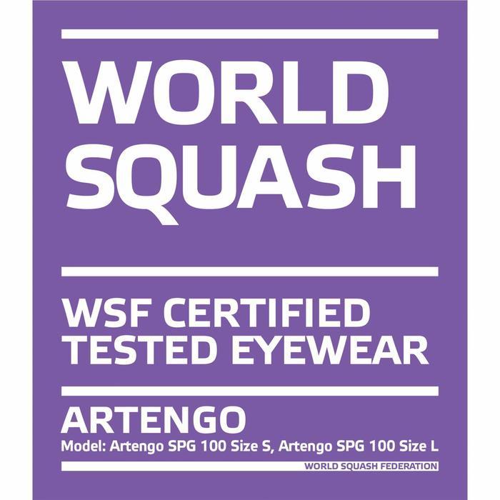 Lunettes de Squash Grand Visage SPG 100 Taille L