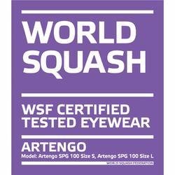 Squashbril voor smal gezicht maat S