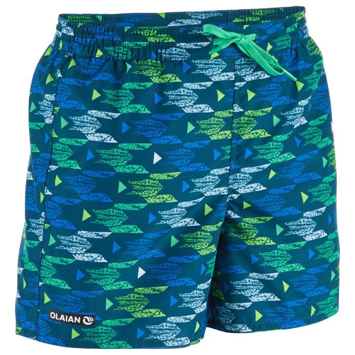 Surf Boardshort corto 100 Kid Pacific Azul turquesa